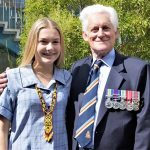 Don Cameron with granddaughter Megan. Photo by by Flying Officer (AAFC) Paul Rosenzweig.
