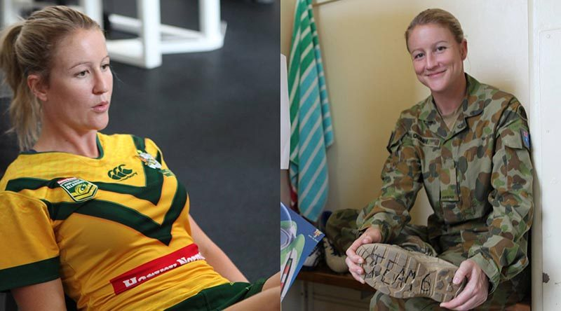 Private Talesha Quinn, 6th Combat Support Brigade – and Rugby League World Cup Jillaroo.