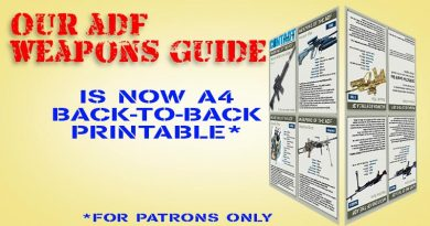ADF Weapons Guide, now A4 back-to-back printable – for CONTACT Patrons only.