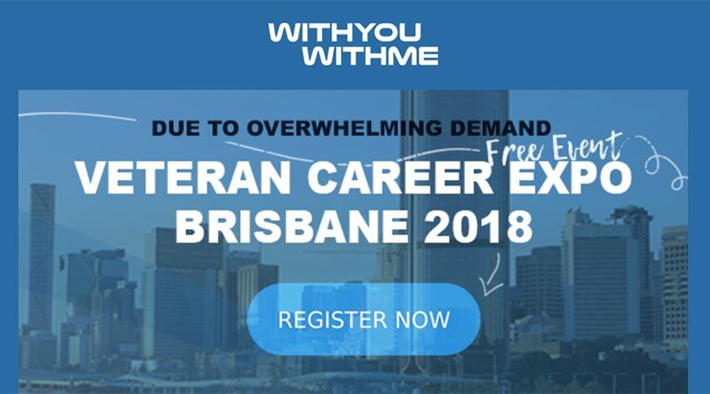WithYouWithMe Veteran Career Expo in Brisbane – registration now open