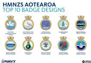 HMNZS Aotearoa top 10 badge comp