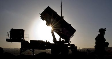 A US soldier with the 3rd Battalion, 2nd Air Defense Artillery Regiment, with a Patriot missile battery at a Turkish military base in support of a NATO commitment to defending Turkey's security during a period of regional instability. US DoD photo by Master Sergeant Sean M. Worrell, US Air Force.
