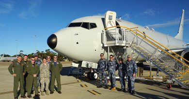 Australia's sixth P-8A Poseidon factory delivered to RAAF Base Edinburgh. Boeing photo.