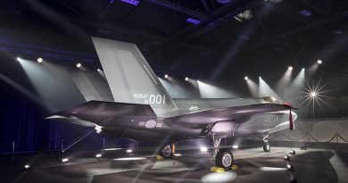 The first Republic of Korea F-35A makes its public debut at Lockheed Martin facilities in Fort Worth, Texas. Photo by Alexander H Groves, Lockheed Martin.
