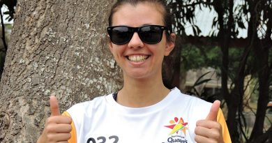 Leading Aircraftwoman (AAFC) Liz Gardener, a 2018 Commonwealth Games Queen's Baton Bearer.