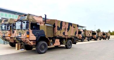 First delivery of new MAN trucks at 7RAR.
