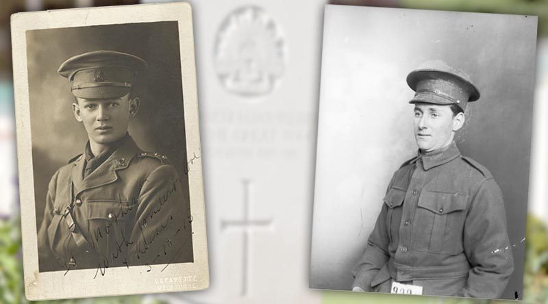 Captain Kenneth Mortimer (left) and Private Henry Bell, both 29th Battalion, AIF.