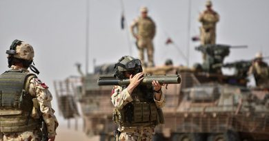 Members of the Overwatch Battle Group – West 4 conduct a range practice near Talil, Iraq. 2008 file photo by Brian Hartigan.
