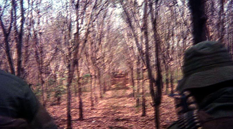 A rubber plantation, with perfect firing lines –in limited directions.
