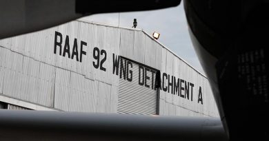 RAAF 92 Wing Detachment A Hangar, Butterworth Malaysia. ADF file photo (2008).