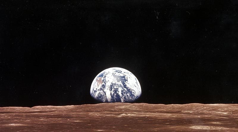 A view of the Earth from the moon, taken by the Apollo 11 – 20 July 1969. NASA photo.