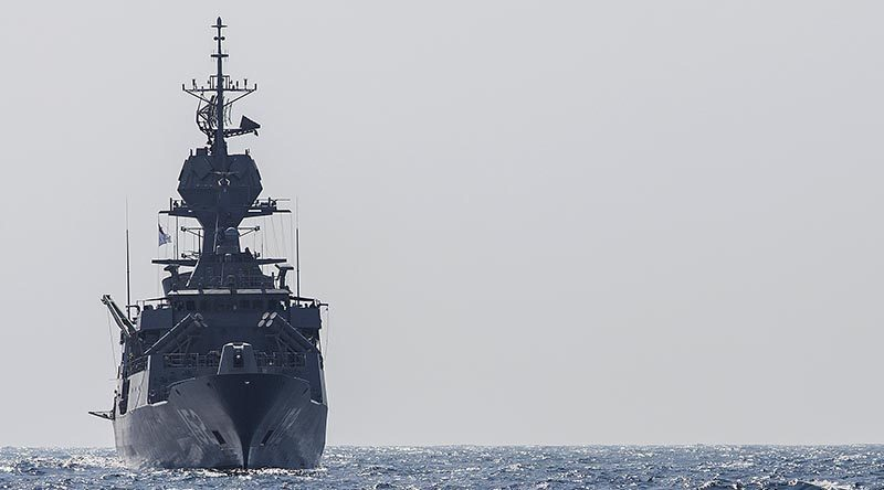 HMAS Warramunga in the Middle East Region. Photo by Leading Seaman Tom Gibson.