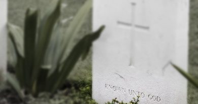 "Graves of unknown soldiers who died during World War I but who's identity remains unknown are marked ""Known Unto God""."