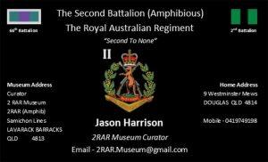 2RAR Museum contact details