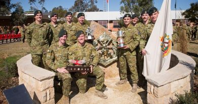 The winning section, from 6RAR, in the 2018 Duke of Gloucester Cup.