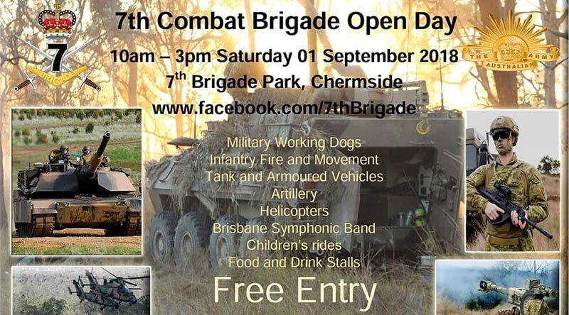 7 Brigade Open Day flier