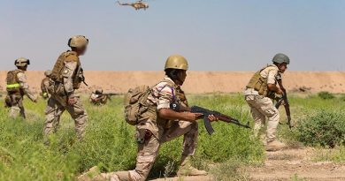 Iraqi Army soldiers conduct a live-fire training exercise under the supervision of New Zealand Army soldiers at Taji Military Complex, Iraq. ADF photo.