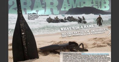 First pages of a major CONTACT Magazine spread on 2RAR (Amphib), from December 2017.