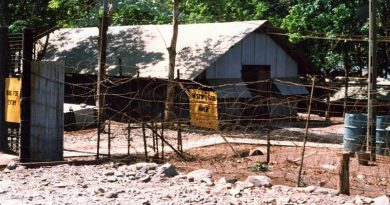 "547 Signal Troop shack at Nui Dat. Image from ""The Story of 547 Signal Troop in SVN 1966-1972"" by Robert (Bob) Hartley and Barry Hampstead [via AWM web site]."