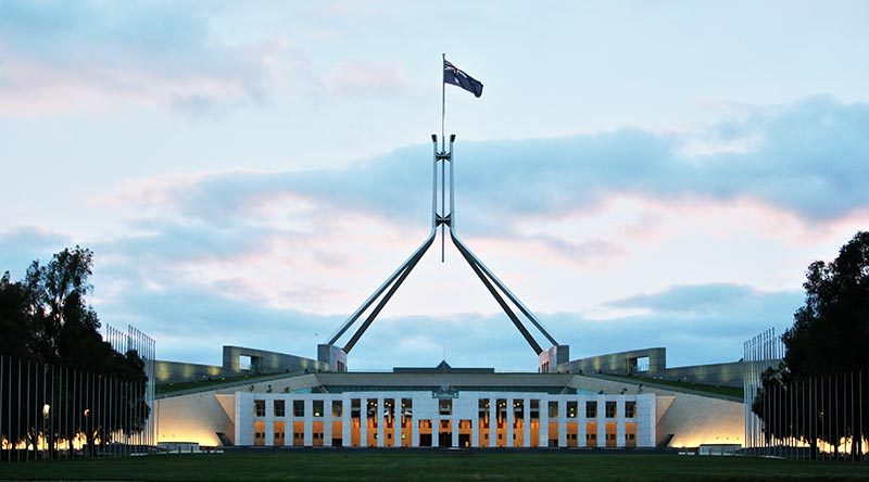 Australia's Federal Parliament House, Canberra. Photo by Brian Hartigan.