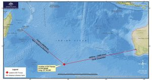 AMSA map of yacht location.