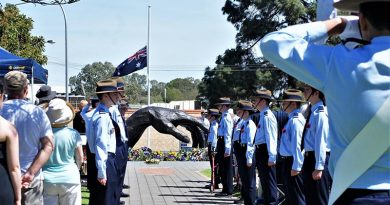 The 608 Squadron Honour Guard for the Gawler 2018 Remembrance Day memorial service. Photo by Flying Officer (AAFC) Paul Rosenzweig