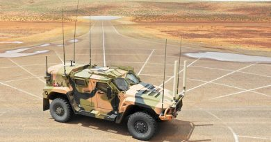 An Australian Army Thales Hawkei protected mobility vehicle-light photographed at a purpose-built facility near Woomera in South Australia where Army is running Protected Mobility Integration and Capability Assurance program testing. ADF photo.