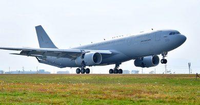 Republic of Korea Air Force receives first Airbus A330 MRTT at Gimhae Air Base. Air Bus photo.