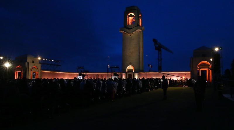The Anzac Day Dawn Service at the Australian National Memorial outside Villers-Bretonneux in France, 25 April 2017. Photo by Corporal Max Bree.
