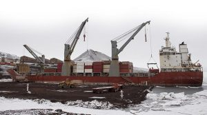 Ocean Giant moored at McMurdo Station.