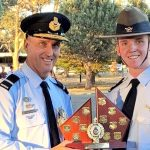 Dux of the Cadet Under Officer Course: CFSGT Benjamin Dunk from 613 Squadron (RAAF Edinburgh). Photo by Aircraftman (AAFC) Josh Watson, Assistant Public Affairs Officer No 6 Wing AAFC.