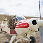 CCPL Kieran Livingstone (602 Squadron, Adelaide Hills) in a Piper Super Cub.