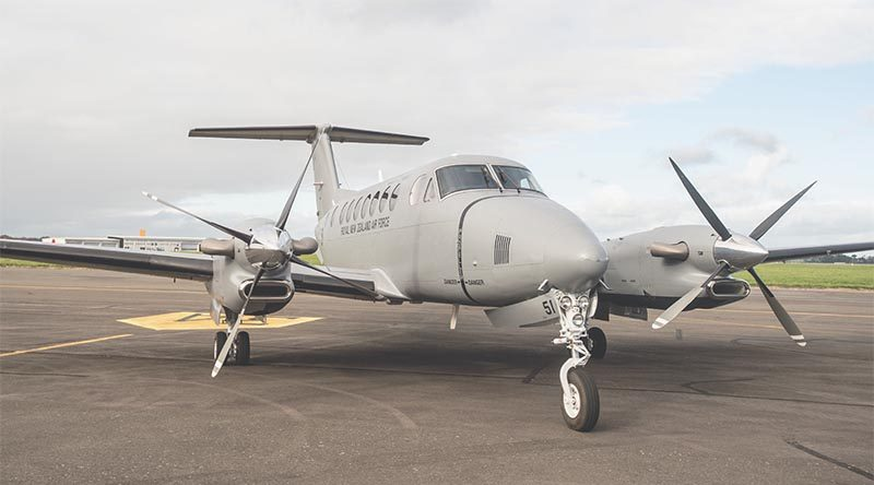 The Royal New Zealand Air Force's new King Air 350. NZDF photo.