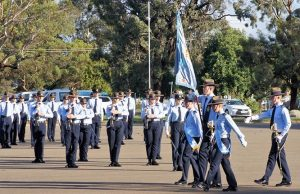 2018 Promotion Courses end of course parade at RAAF Edinburgh. These residential leadership training courses give Cadets skills in leadership and decision-making, initiative, self-discipline, time-management, public speaking, management and administration, and operational planning. Photo by Flying Officer (AAFC) Paul Rosenzweig.