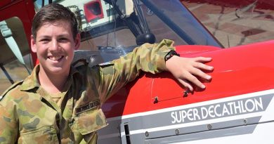 [File image February 2017] A young Cadet Nic Sibly prepares for a Pilot Experience Flight in an American Champion Super Decathlon operated by Adelaide Biplanes at Aldinga airfield. Photo courtesy of Gaylene Smith of Adelaide Biplanes