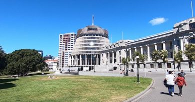 New Zealand's Parliament buildings in Wellington. Photo by Brian Hartigan.