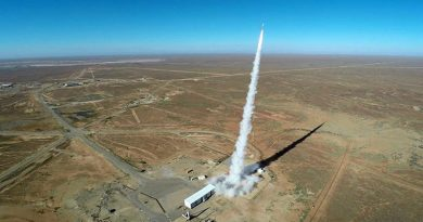 Rocket launch to test hypersonic speed in Woomera, May 2016. ADF photo.