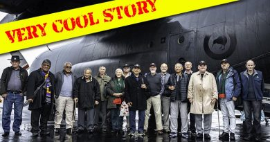 New Zealand Army Vietnam Veterans in front of NZ7002 – the same Royal New Zealand Air Force C-130 Hercules that flew them to the Vietnam War on 8 May 1969. NZDF photo.