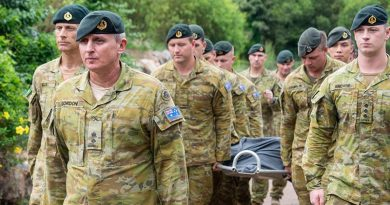 Corporal Quintus Rama was farewelled by members of the Tiger Battalion with a small military ceremony on 2 May 2019, attended by the CO, RSM and other members of 5RAR.