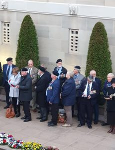 Former members of B Squadron, 1st Armoured Regiment, who were at the battle of Binh Ba, gather at the Australian War Memorial to mark the 50th anniversary of the battle. 1st Armoured Regiment photo.