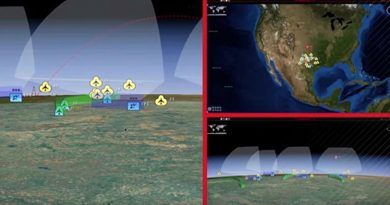Patriot missile defence system control screen. Raytheon image.