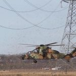 Tiger helicopter hits power lines in Queensland
