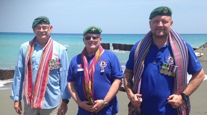 The author, Rod Hilliker (middle) with two Green Beret comrades. Photo supplied.