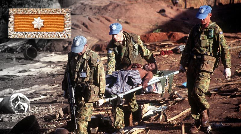 Members of the Australian Contingent 1994-1995 in Rwanda. Photographer unknown.