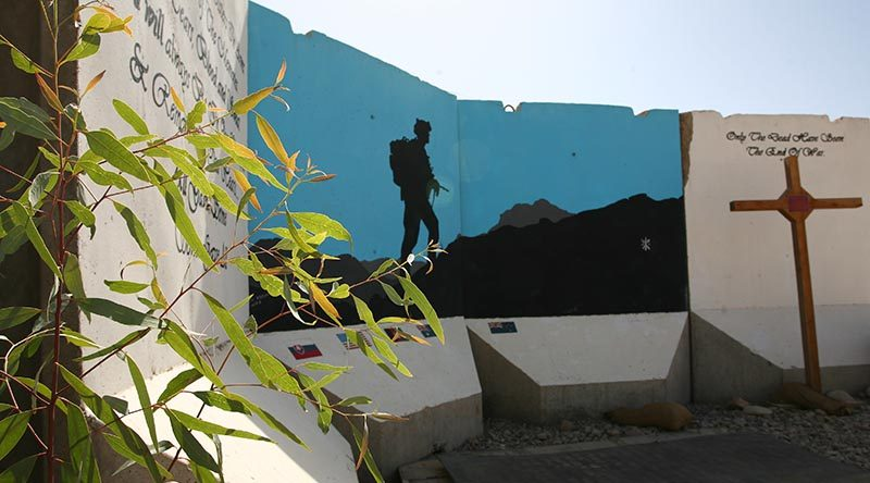 'T-wall' art in Tarin Kot, Afghanistan. Photo by Brian Hartigan