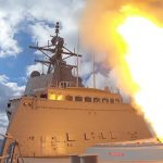 HMAS Hobart's first missile fire on home station