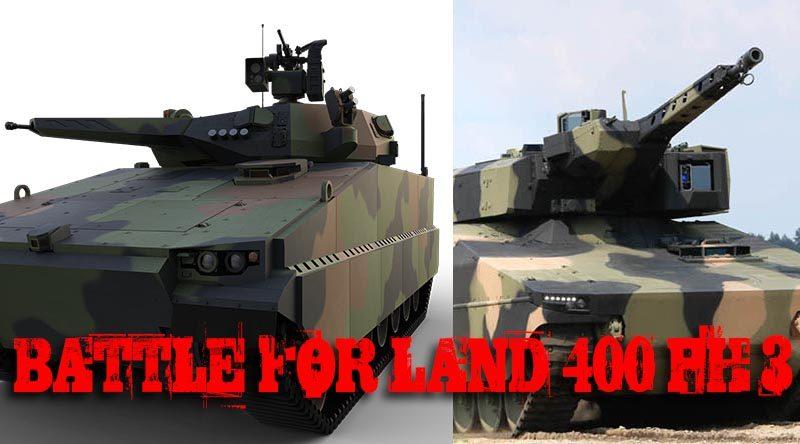 Contenders for LAND 400 Phase 3 –Hanwha Redback V Rheinmetall Lynx.