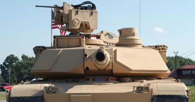 A US Army Abrams tank fitted with CROWS Low Profile. US Army photo.