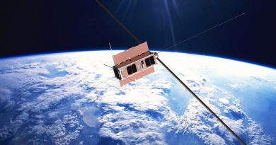 Lunch-box sized satellites (cubesats) for the Buccaneer and Biarri space missions. ADF image.