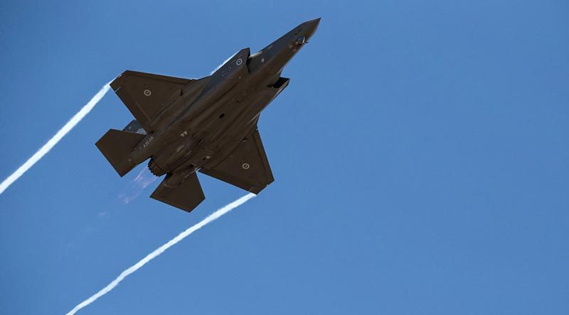 An F-35A Lightning II fighter at the Edinburgh Air Show. Photo by Flight Sergeant Ricky Fuller.